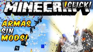 Minecraft - Armas con 1 sólo bloque de COMANDOS (Sin MODS!) - ESPAÑOL TUTORIAL