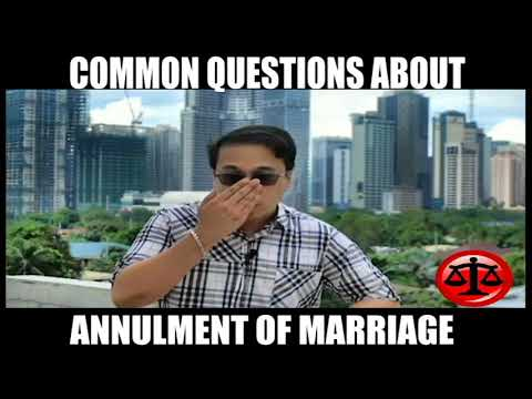 FAQ: ANNULMENT OF MARRIAGE PHILIPPINES