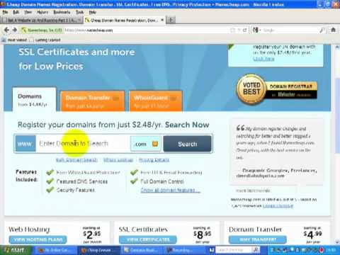 getting a website up and running - domain name registration.mp4