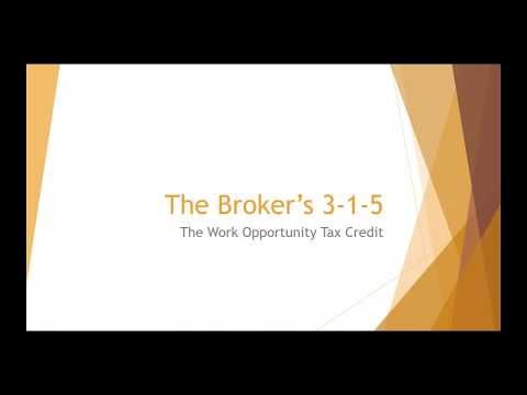 The Work Opportunity Tax Credit - Chad Granger