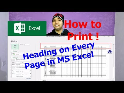 HOW TO PRINT HEADING ON EVERY PAGE IN EXCEL ! HOW TO PRINT SELECTED AREA IN EXCEL !