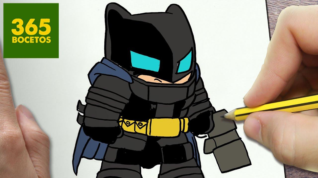 Como Dibujar Batman Con Armadura Kawaii Paso A Paso Dibujos Kawaii