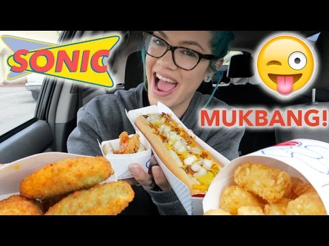 SONIC MUKBANG! [EATING SHOW!!]