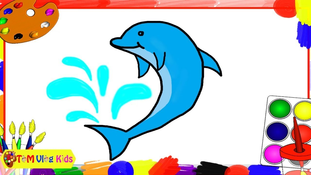 Drawing and Coloring Fish|Vẽ và Tô Màu Cá  |TOM Vlog Kids