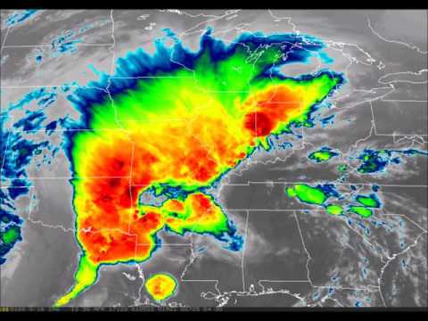 GOES-16 IR Imagery of Severe Storms April 28-30, 2017