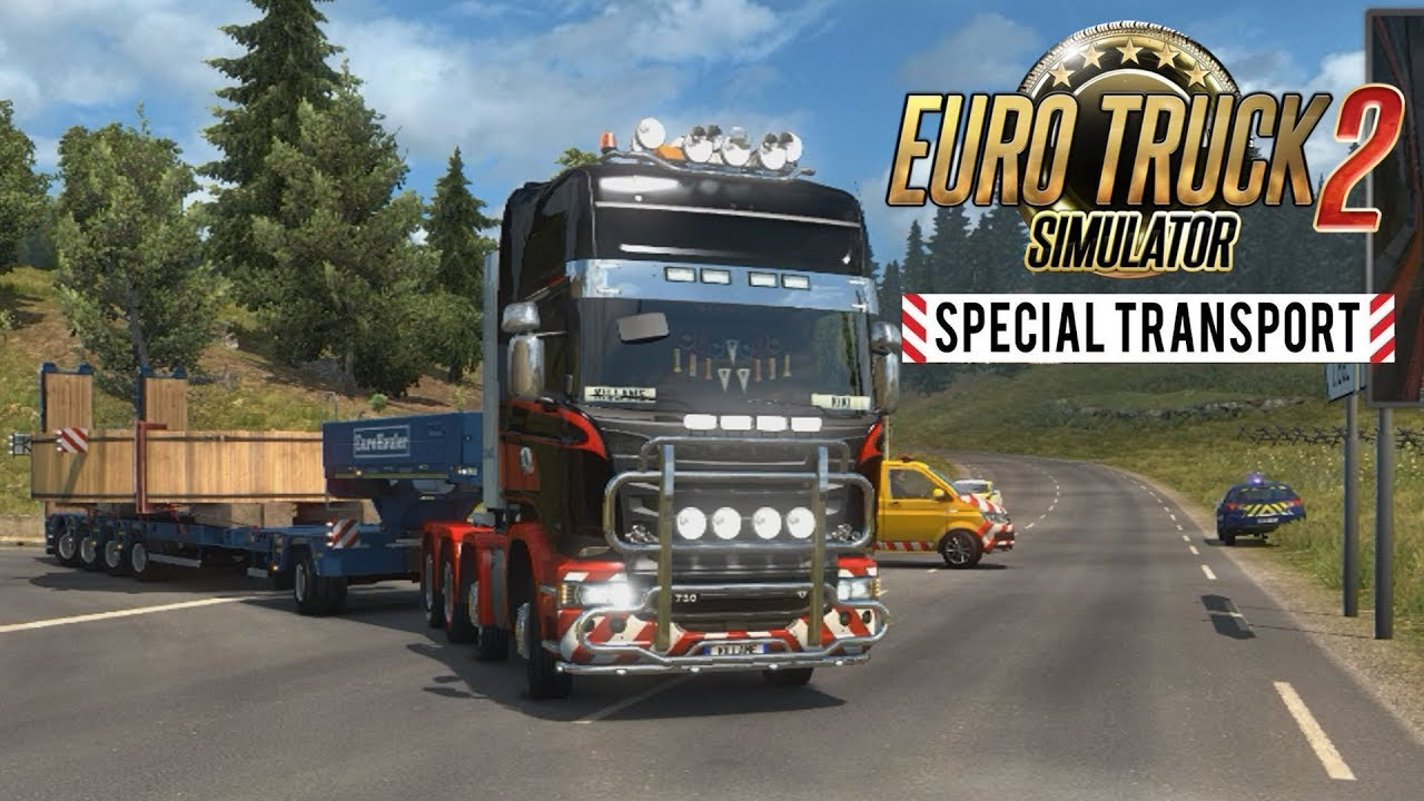 convoi exceptionnel euro truck simulator 2 special transport youtube. Black Bedroom Furniture Sets. Home Design Ideas