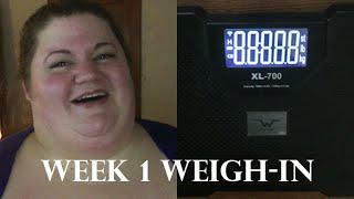 Week 1 - Weight Loss Update