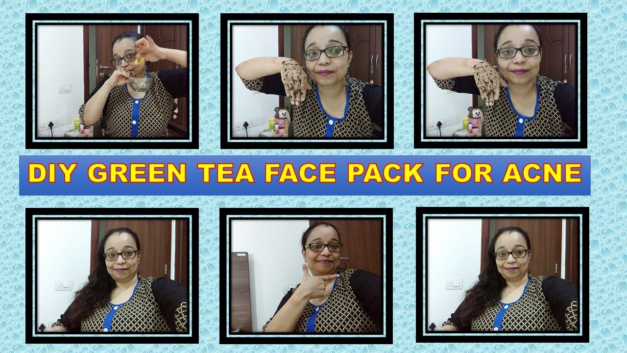 DIY Green Tea Face Pack to prevent Ageing & Acne || Don't throw away used Green Tea Bags !!