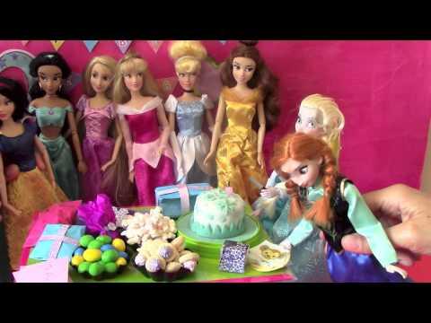 Frozen - Elsa e Anna bonecas, brinquedos, aniversário, castelo, completo 1.5 horas ...