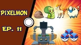 Minecraft Pixelmon - NPC, Trade Machine, Great Ball e mais Pokémons - Ep. 11