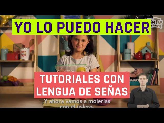 Yo lo puedo hacer | Cocadas de manjar | Videos en lengua de señas chilena para niños