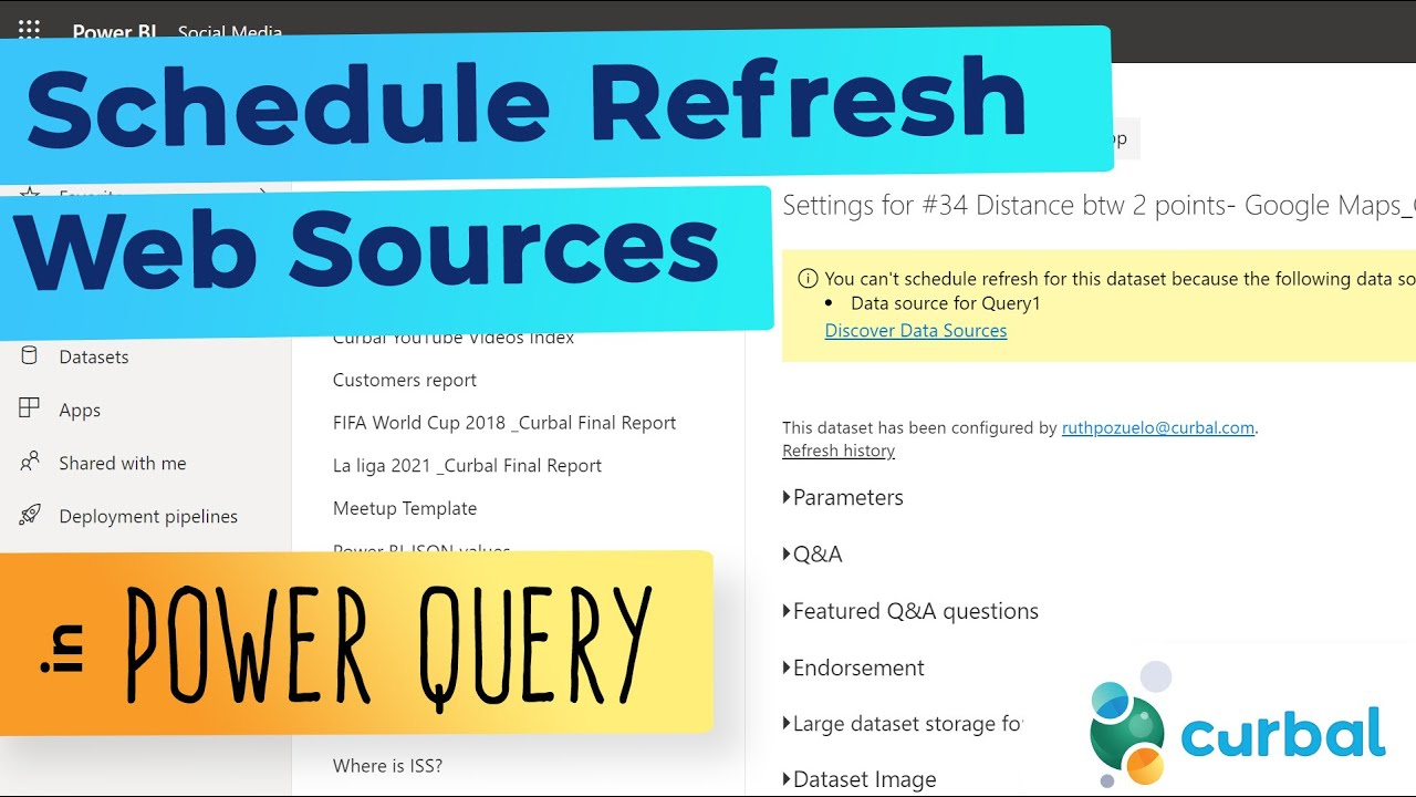 How to refresh web sources in Power BI service