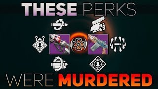 Weapon Perk Nerfs and Values (These Perks were murdered) | Destiny 2 Shadowkeep