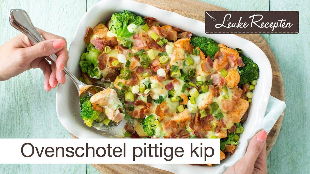 Recept ovenschotel kip - YouTube