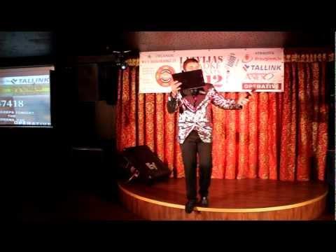Jānis SNIEDZIŅŠ - Latvijas karaoke čempionāta 2012 pusfinālā