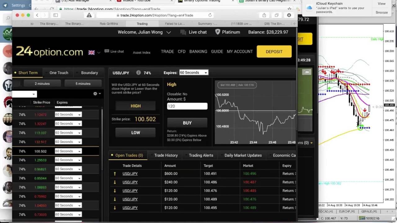 Binary option scalping software