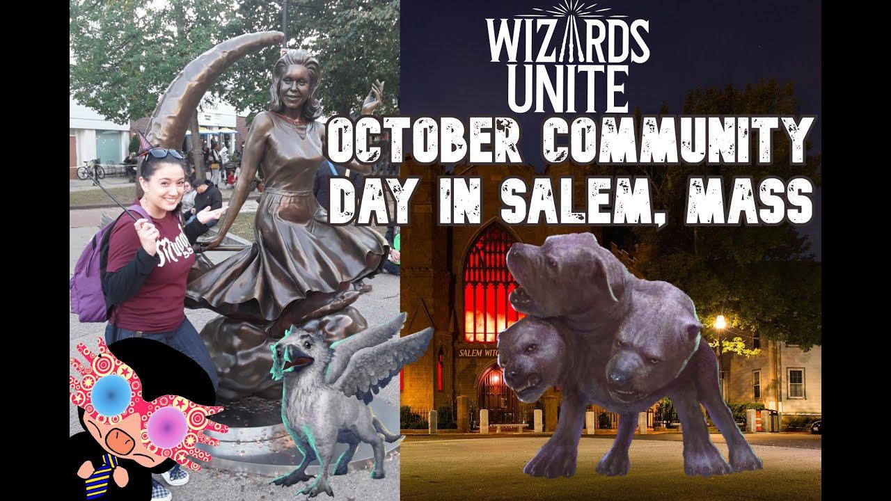 OCTOBER COMMUNITY DAY | DAY TRIP TO SALEM MASSACHUSETTS | #WizardsUnite