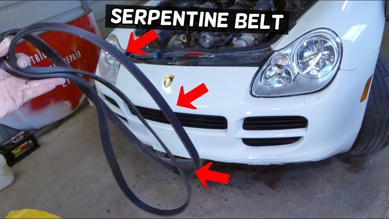HOW TO REMOVE AND REPLACE SERPENTINE BELT ON PORSCHE CAYENNE 4 5