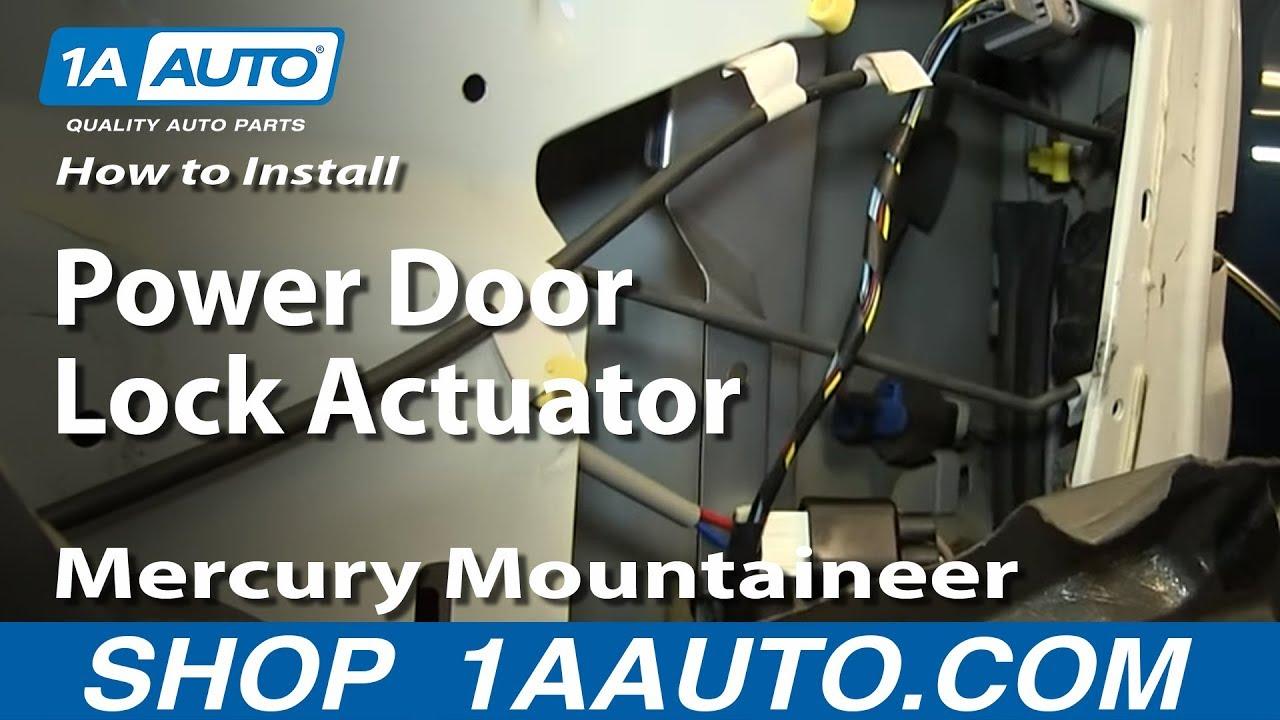 How To Install Replace Power Door Lock Actuator 200205 Mercury Mountaineer Ford Explorer  YouTube
