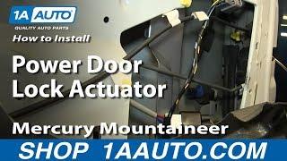 how to install replace power door lock actuator 2002 05 mercury mountaineer ford explorer