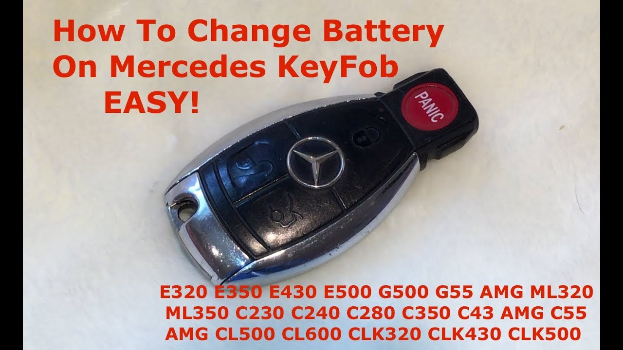 How To Replace Battery in Mercedes Key Fob EASY - YouTube