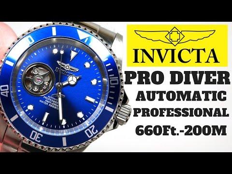 (4K) INVICTA PRO DIVER AUTOMATIC Men's Watch Review Model: 20434