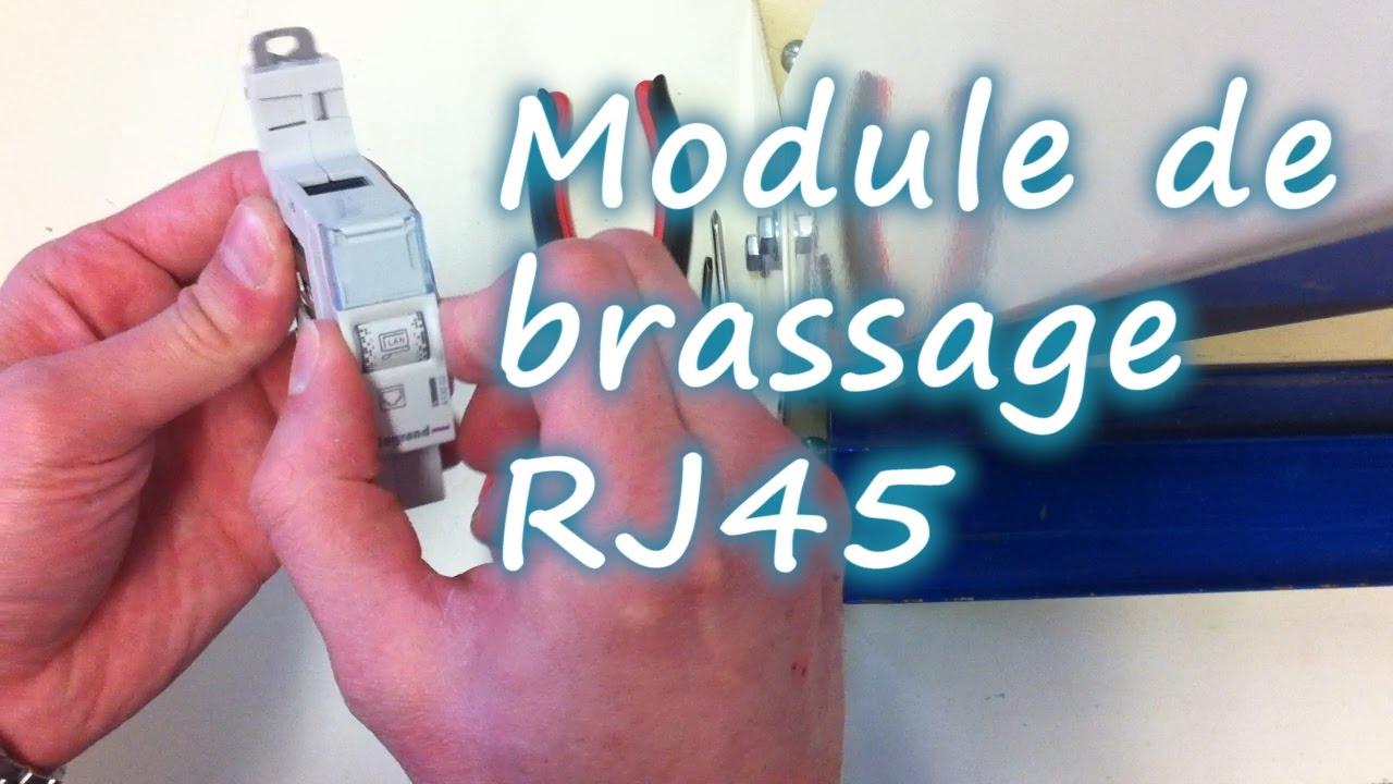 Download Raccordement module de brassage ou répartiteur RJ45
