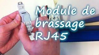 Raccordement module de brassage ou répartiteur RJ45
