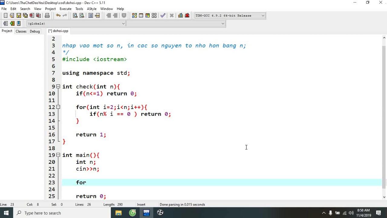 C++_Nguyên tố từ 1 tới n