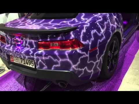 Purple camaro pimped well at custom show 2016