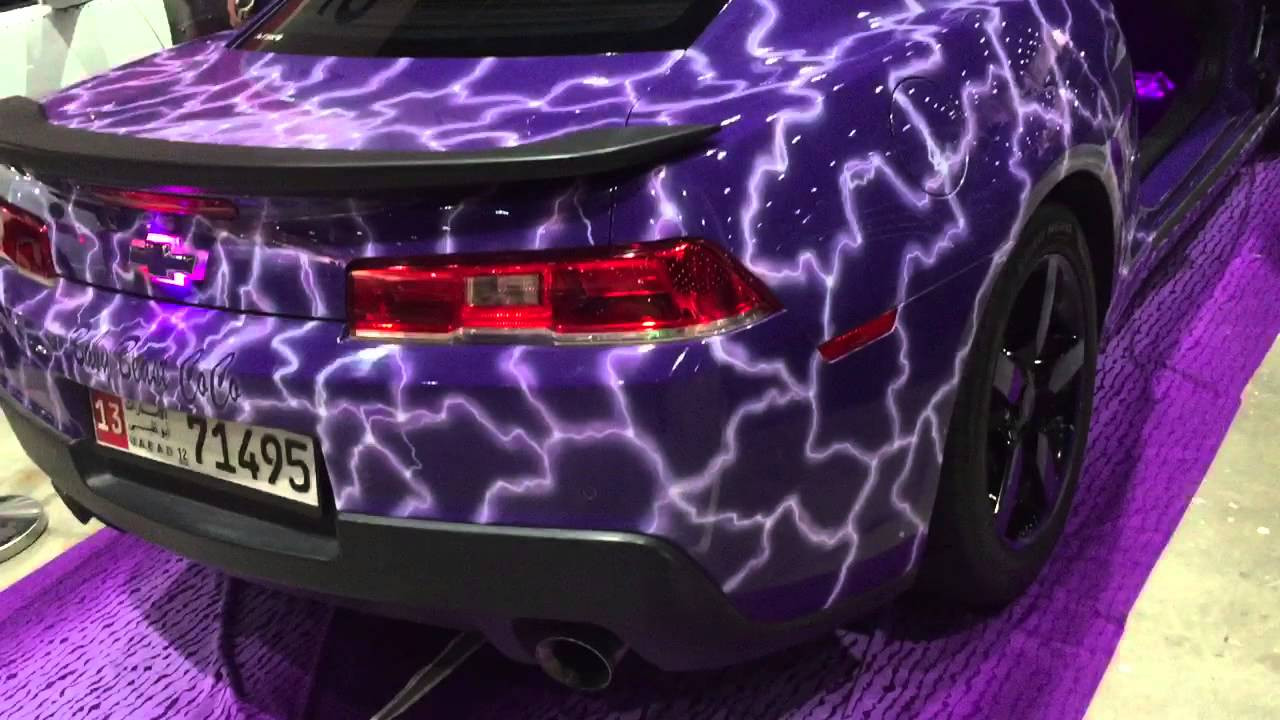 Purple Camaro Pimped Well At Custom Show 2016