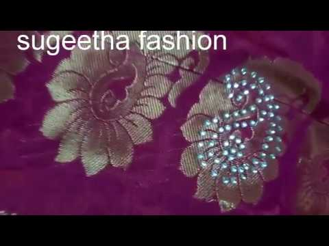 8bf4476fa saree stone work tutorial - YouTube