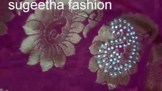 saree stone work tutorial
