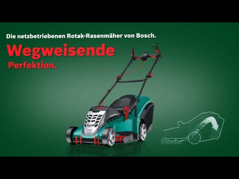 bosch stellt vor rasenm her rotak 37 rotak 40 und rotak 43 youtube. Black Bedroom Furniture Sets. Home Design Ideas