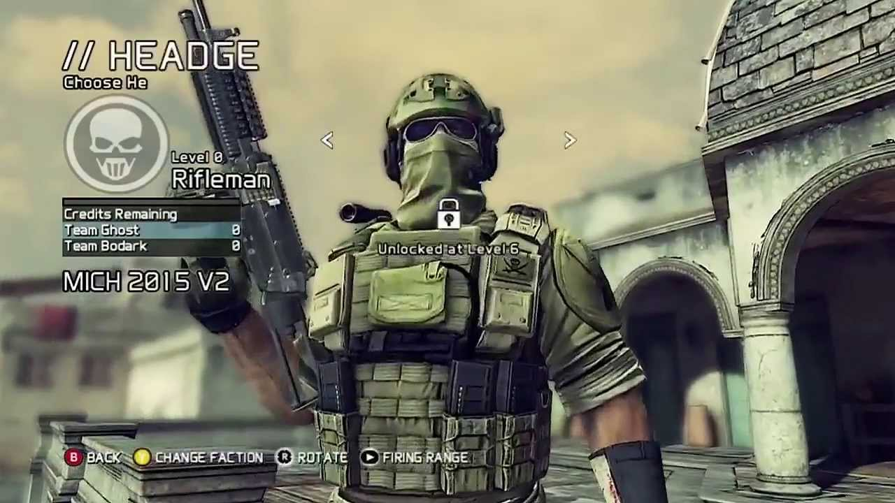 new ghost recon future soldier class loadout options