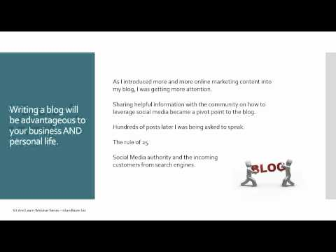Understanding The Importance of Blogging   Sit And Learn Webinar