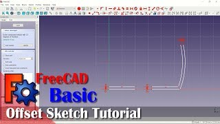 How To Offset Sketch In FreeCAD Tutorial For Beginner