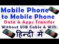 Phone To Phone Data Transfer Without USB Cable Or Wifi Router In Hindi mp3