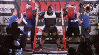 Ray Williams, Two World Record Squats, The Arnold, 2017