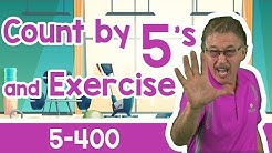 Count by 5's and Exercise to 1000 | 5 - 400 | Jack Hartmann