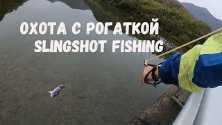 Slingshot Fishing Рыбалка с Рогаткой Охота с Рогаткой