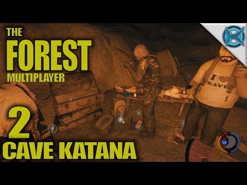 """The Forest -Ep. 2- """"Cave Katana"""" -Multiplayer Let's Play Gameplay- Alpha 0.44 (S4)"""