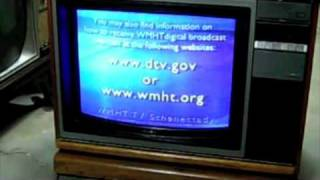 Analog TV Shutdown|The Switch from Analog TV(Static Distortion Noise)to Digital TV(DTV)| Video