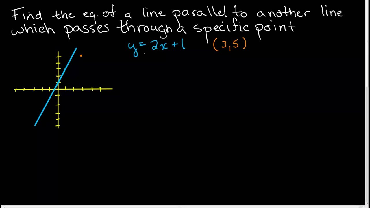 Finding The Equation Of A Line Parallel To Another Line Passing Through A  Point