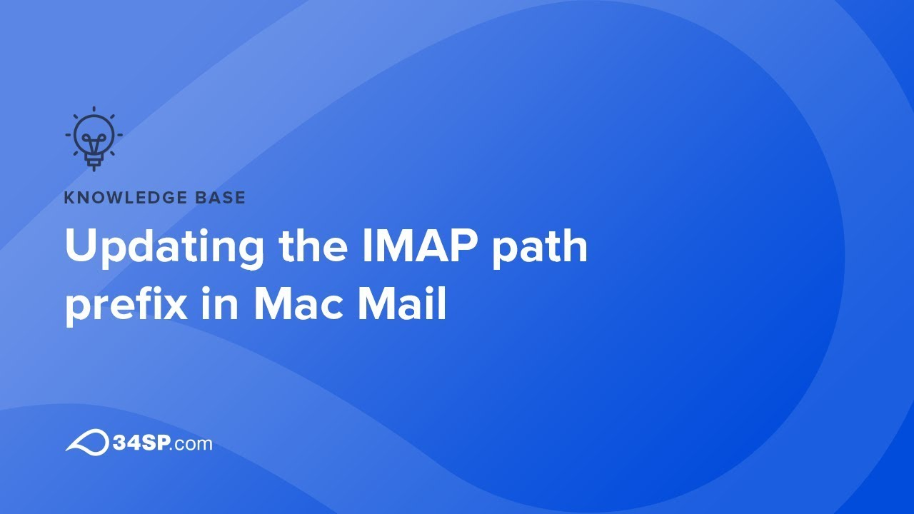 How to update the IMAP prefix on Mac Mail