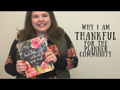 Why Am I Thankful For The Planner Community YouTube