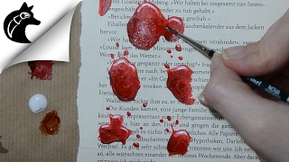 Painting Blood With Acrylics