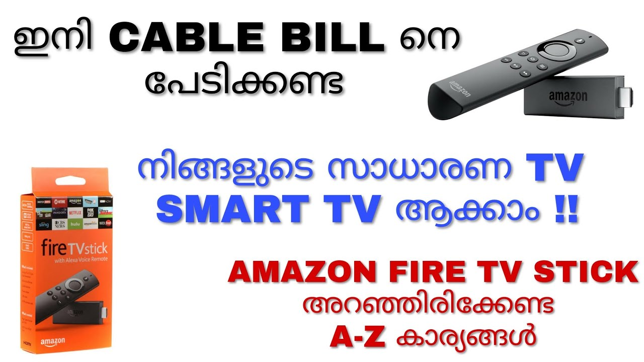 Amazon Fire Tv Stick Unboxing And Review | Installation Setup |How To  Install Live Tv | Malayalam