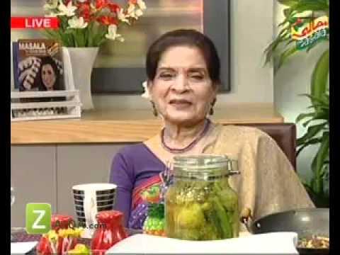 Hareesa Koftay, Lemo Aur Hari Mirch Ka Achar And Tandoori Mushroom Kadai by Zubaida Tariq