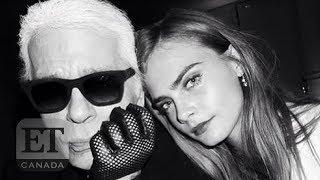 Cara Delevingne Defends Karl Lagerfeld